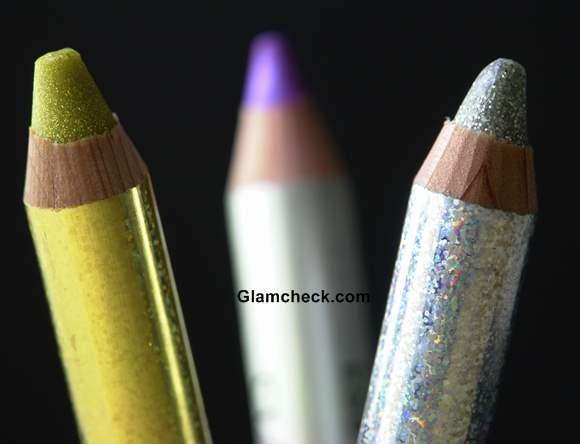 Glitter eye shadow pencils