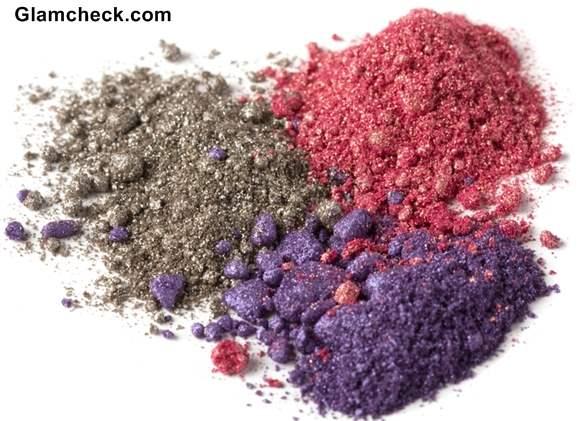 Glitter - shimmer eye shadow powders