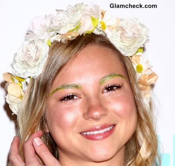 Green Eyebrows Allie Gonino