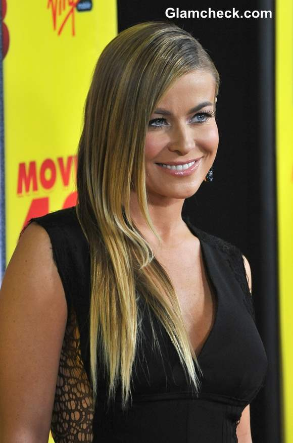 Hairstyle DIY Carmen Electra Sexy Side Parted Sleek Do