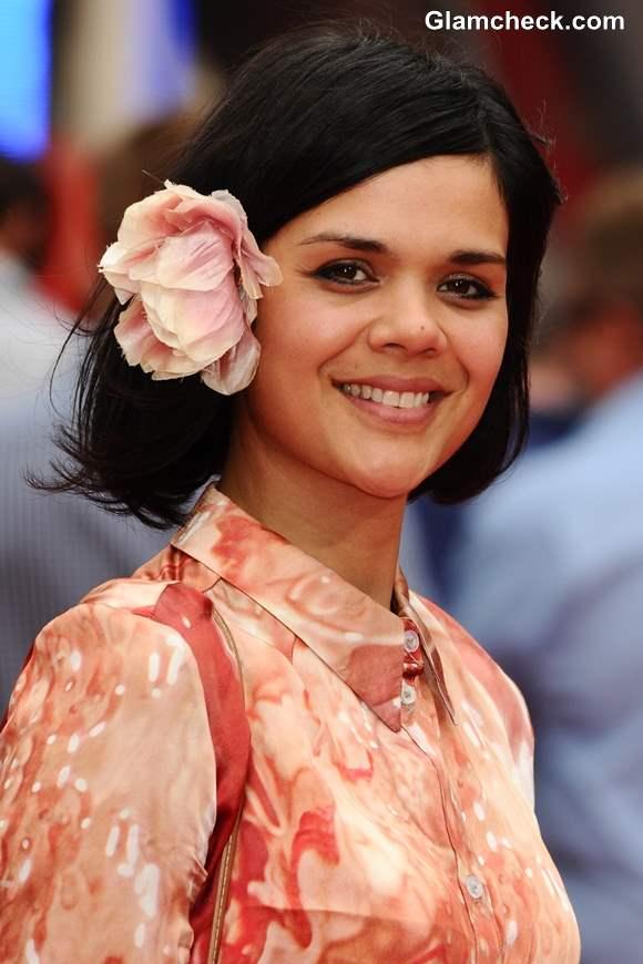 Hairstyle Inspiration Floral Accessories for Short Hair  Natasha Khan