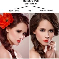 Hairstyle Poll Side Braid with or without Flower