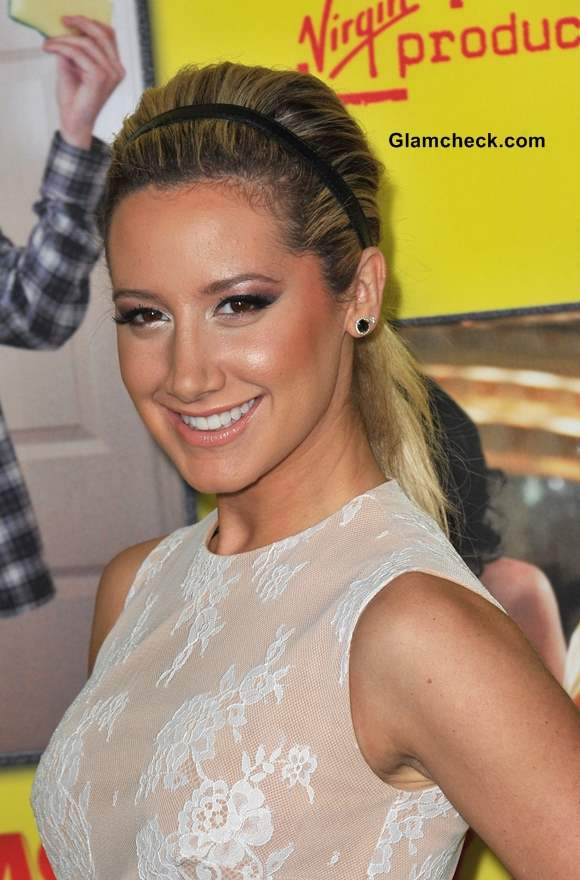 Hairstyle Ponytail with Headband like Ashley Tisdale