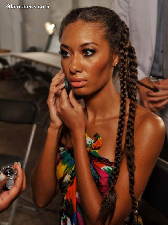 Hairstyle Trends S-S 2014 Multiple braids at Agua Di Lara Swim Fashion Week