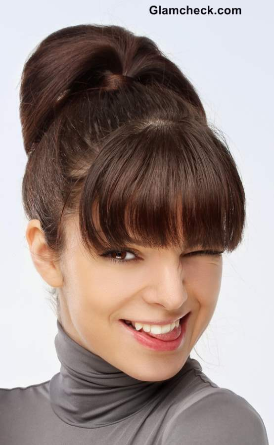 Hairstyle for Short Hair Ponytail with Bangs