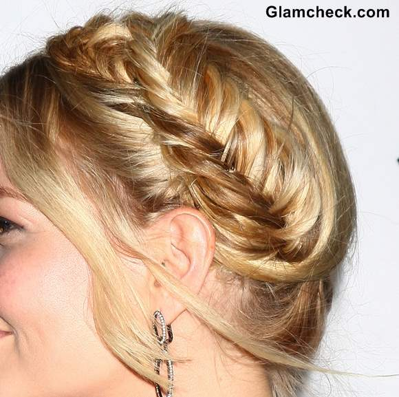 Jennifer Morrison Milkmaid Hairdo 2013