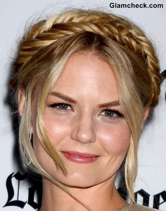 Jennifer Morrison Milkmaid Hairdo at Some Girls Premiere