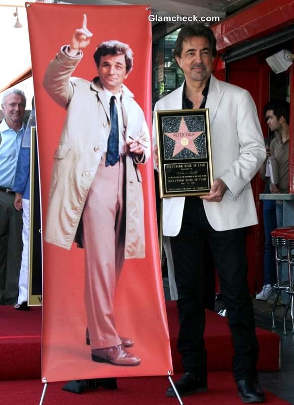 Joe Mantegna Peter Falks Posthumous Walk of Fame Star