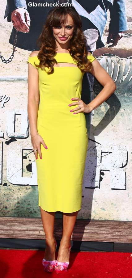 Karina Smirnoff Yellow dress 2013
