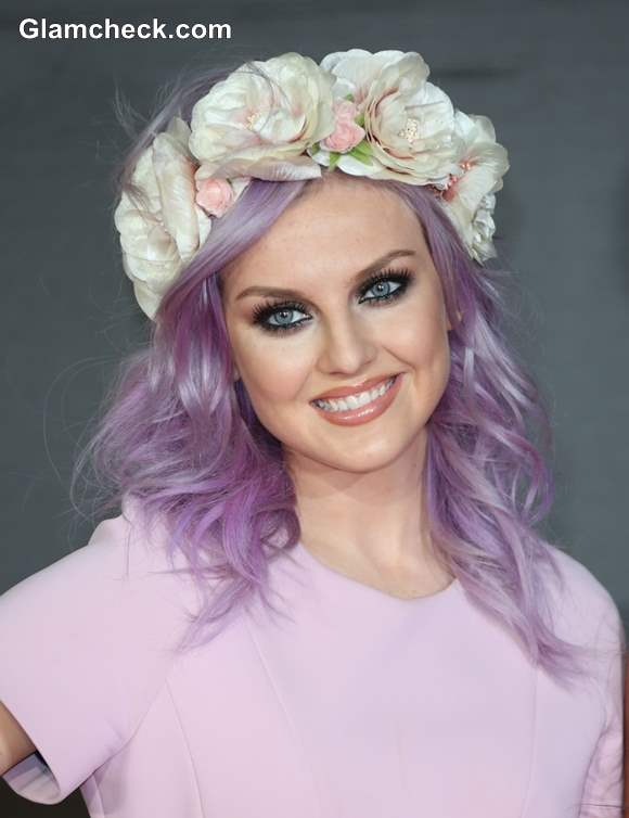 Lilac Hair color Perrie Edwards