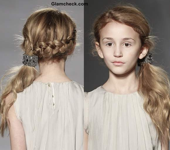 Little Girls Hairstyle DIY - Inside out French Braided Ponytail