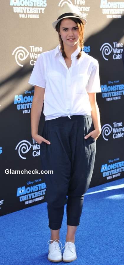 Maia Mitchell Knotted White Shirt 2013