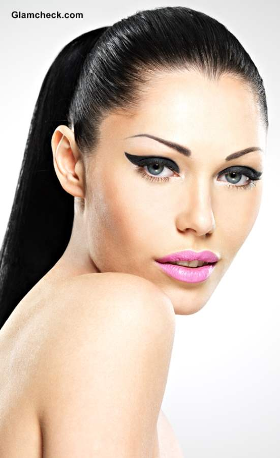 Makeup trends 2014 Neon Pink Lips Trend