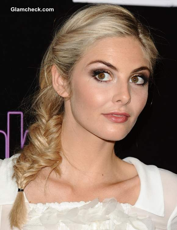 Messy Side Fishtail Braid Hairstyle Tamsin Egerton