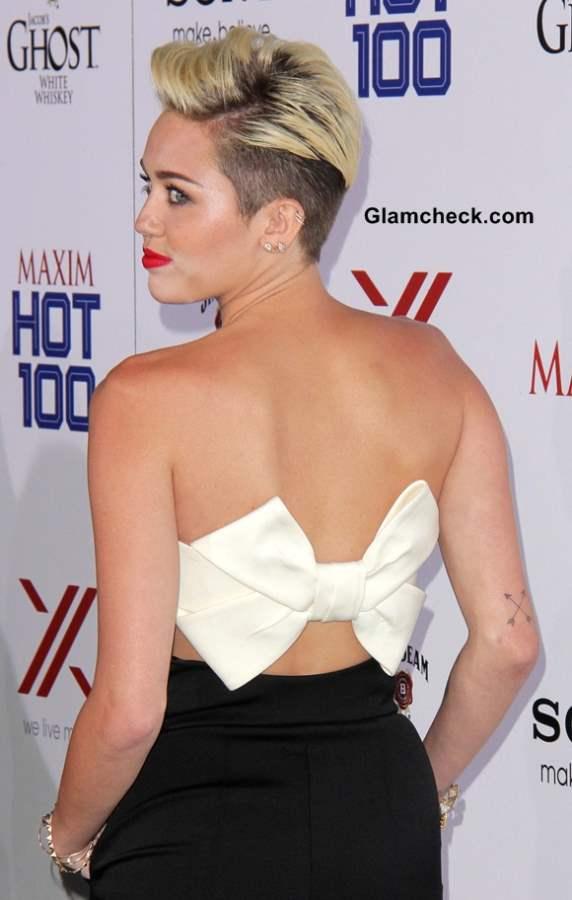 Neckline Inspiration Bow Back Jumpsuit Miley Cyrus 2013