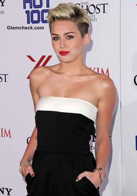 Neckline Inspiration Miley Cyrus 2013 Bow Back Jumpsuit