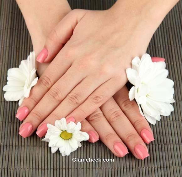 Neutral Pink nail polish