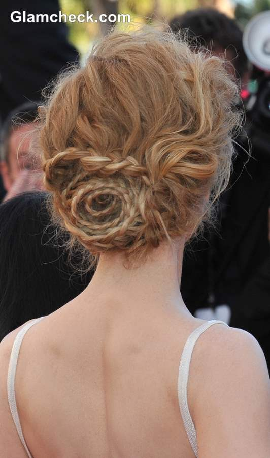 Nicole Kidman Nested Braid Hairstyle at 2013 Cannes