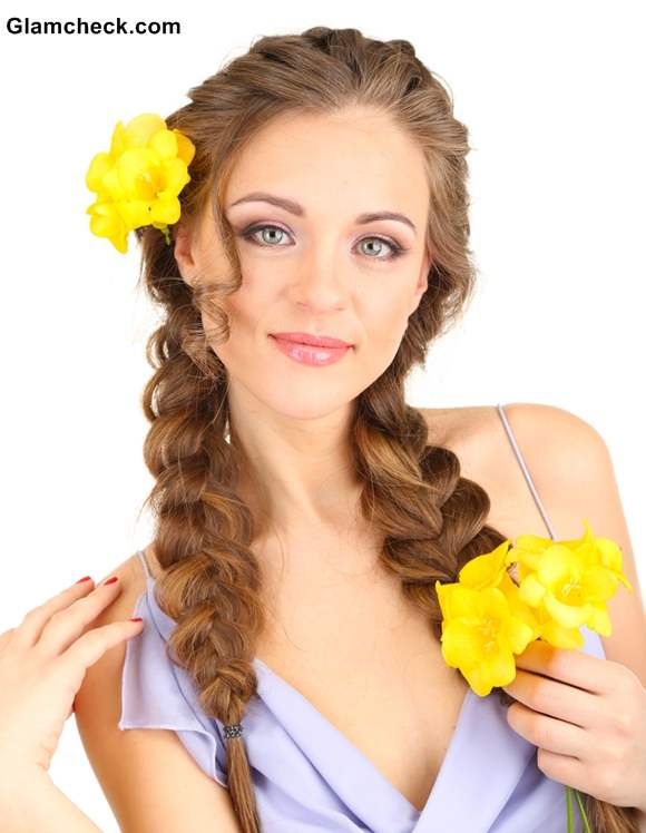 Hairstyle How To 3 Ways Of Styling French Braid With Flowers