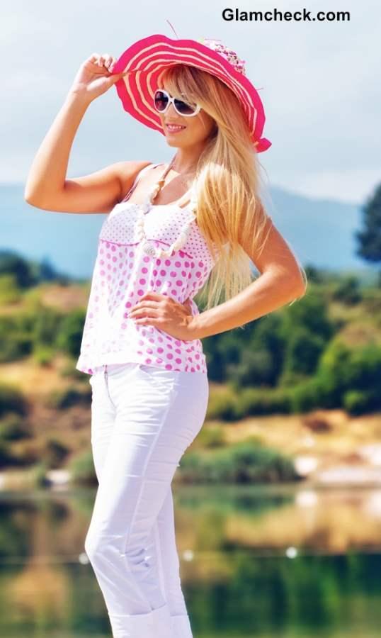 Pink Brim Hats summers