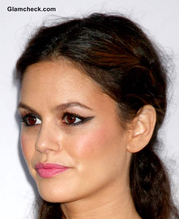 Pink Lips with Winged Eyeliner like Rachel Bilson