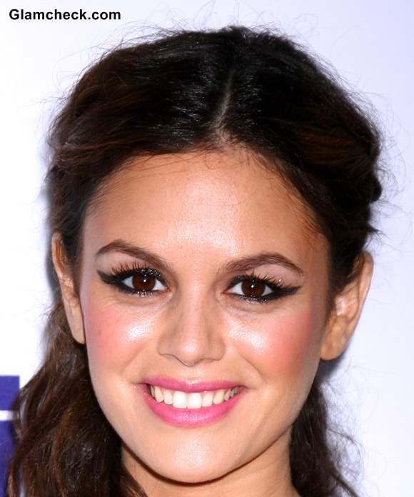 Rachel Bilson Makeup 2013 Pink Lips with Winged Eyeliner