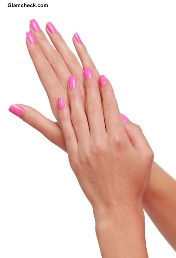 Shades of Pink Nail polish basic pink