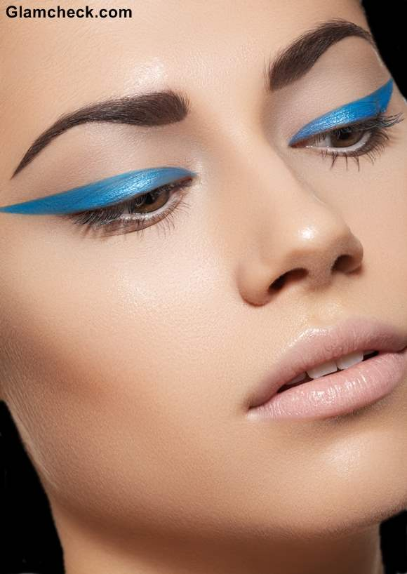 Statement Blue Eyeliner