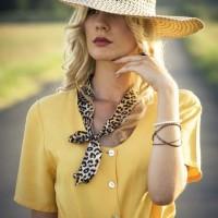 Straw Crochet Brim Hat