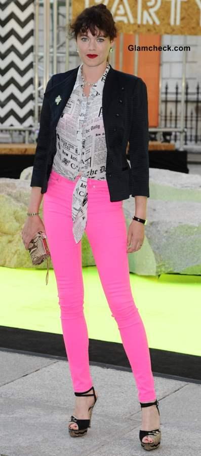 Style Inspiration Jasmine Guinness black blazer styling