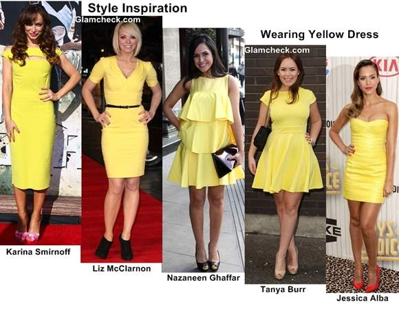 Style Inspiration Wearing Yellow Dress with Varying Lengths
