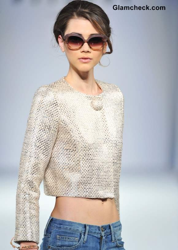 Style Pick of The Day Metallic Cropped Jacket