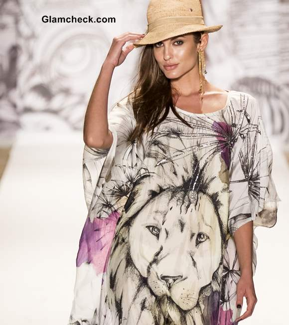 Style Pick of the Day Lion Face Print Kaftan