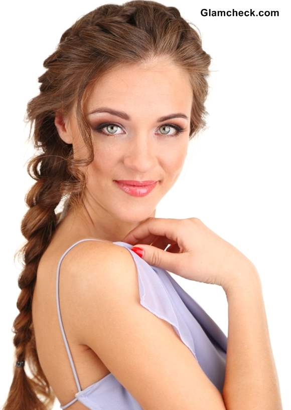 Styling French braid with headband and flowers