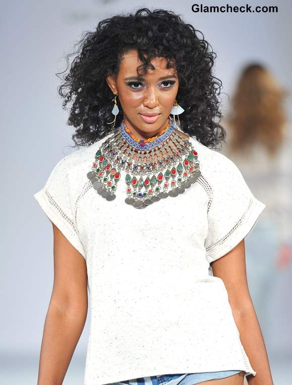 Tips for wearing the Tribal Statement Necklace Brigade LA Fall 2013