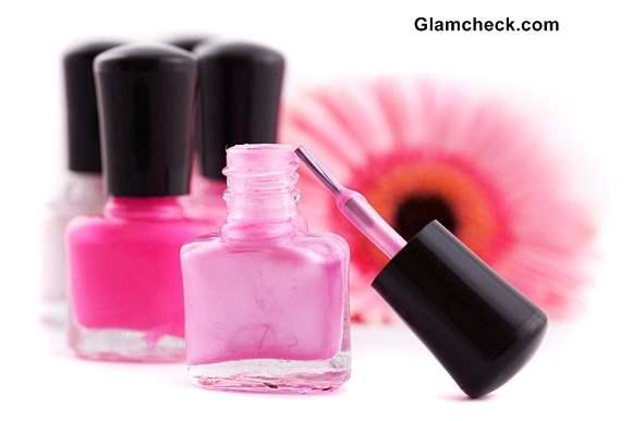 Various shades of Pink Nail polish