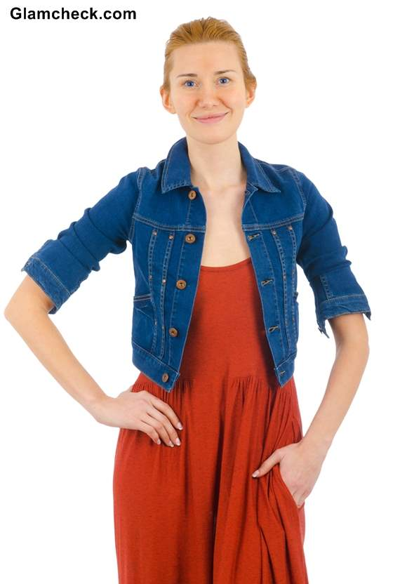 Denim Jacket With Maxi Dress Rock The Miss American Pie Look