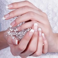 Wedding Nail Art french Manicure