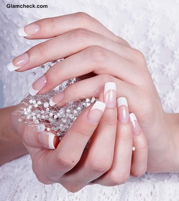 Wedding nails french manicure