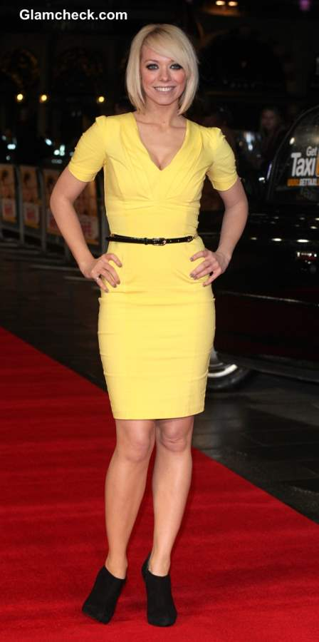 Yellow dress 2013 Liz McClarnon