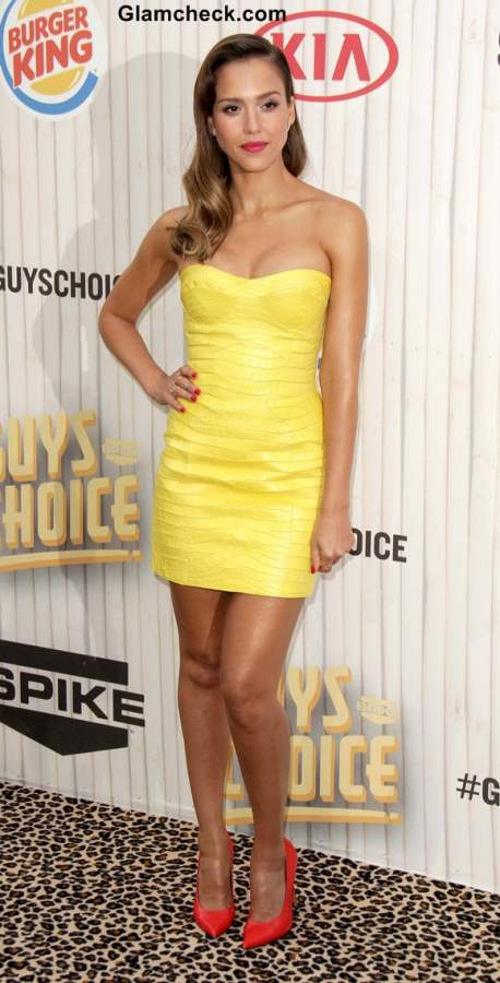 Yellow dress 2013 jessica Alba