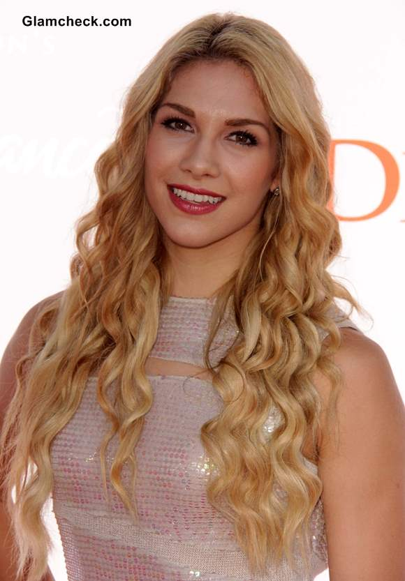 Allison Holker Mermaid Curl Hairstyle 2013