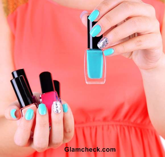 Blue Nail Art Shades Blue Nailpolish Manicure