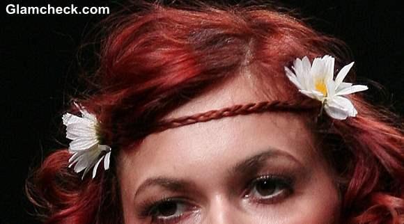 Boho Hairstyle Braid and Flower Forehead Band