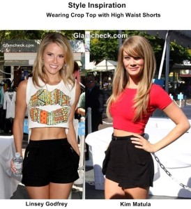 Celeb Style Inspiration - Crop Top with High Waist Shorts