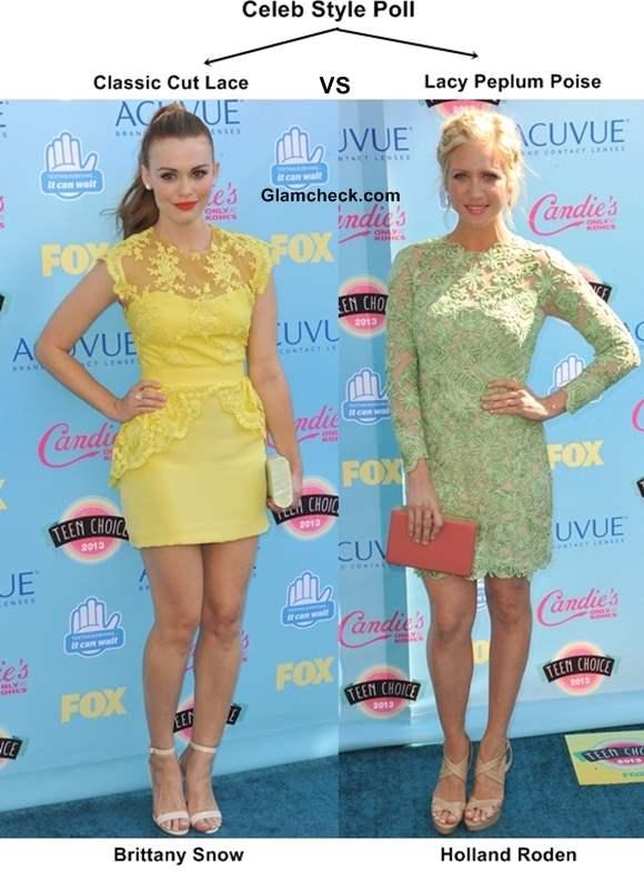 Celeb Style Poll - Lacy Peplum Poise vs Classic Cut Lace