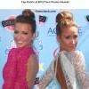 Celeb Top Knot Hairstyes at 2013 Teen Choice Awards
