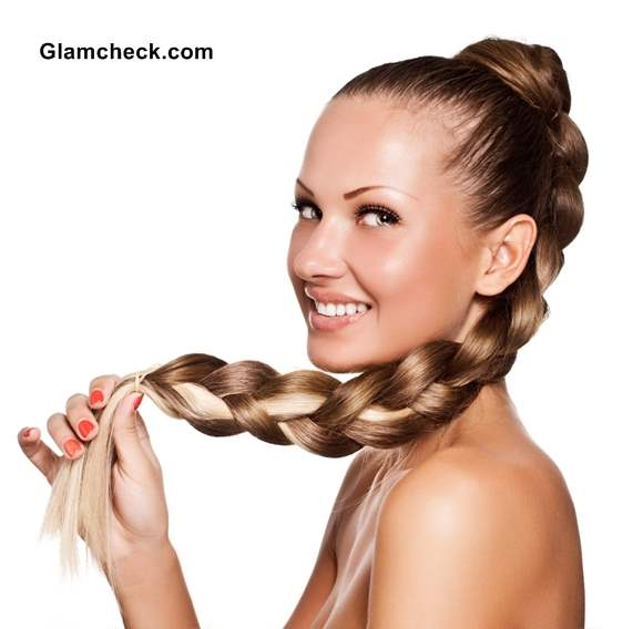 Chunky High Plait Hairstyle