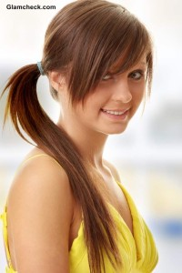 Everyday College Hairstyle - The Side Ponytail