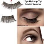 Eye Makeup Tip – Fake Half Eyelashes